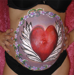 Bellypainting-Herz